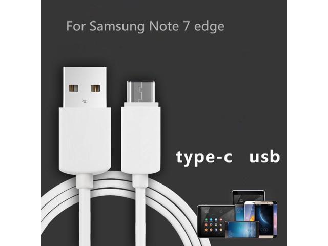 USB Type-C Data Cable Mobile Phone For Samsung Galaxy Note 7 Edge A7(2017)  1m USB Data Charger Cable Sync Simple Fashion White - Newegg com