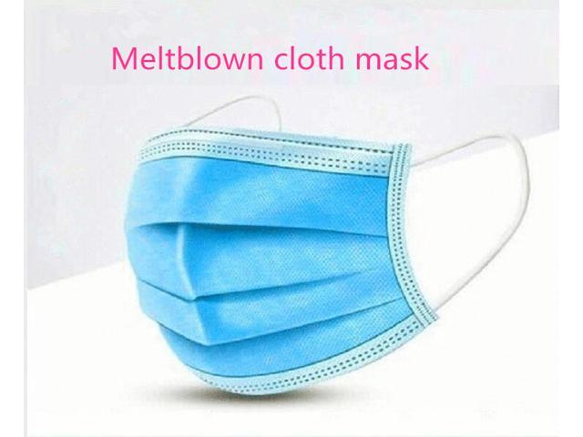 50pcs Disposable three-layer non-woven masks civilian three-layer daily masks Meltblown cloth mask