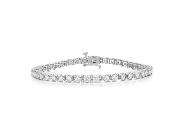 60e95496d5977 Noray Designs IGI Certified 14K White Gold Diamond (3 Ct, G-H Color, I1-I2  Clarity) Tennis Bracelet - Newegg.com