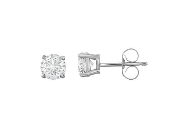 ed9aab3cda90e Noray Designs IGI Certified 14K White Gold Diamond (1 Ct, I-J Color, I1-I2  Clarity) Stud Earrings - Newegg.com