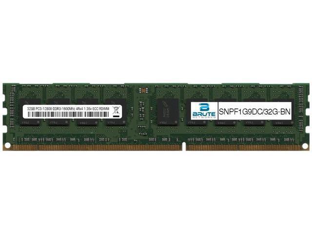 A-Tech 32GB Module for Dell PowerEdge R720XD DDR3 ECC Load Reduced LR DIMM PC3-12800 1600Mhz 4rx4 1.35v Server Memory Ram Equivalent to OEM SNP1600D3LL11//32G SNPF1G9D//32G A7916527