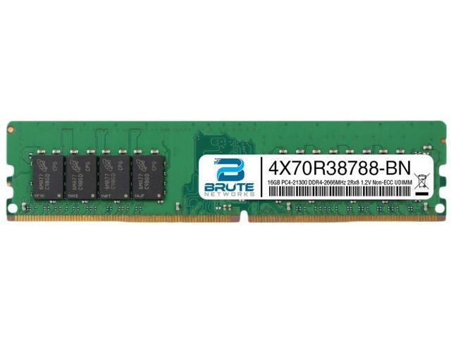 Brute Networks 7X77A01304-BN Equivalent to OEM PN # 7X77A01304 32GB PC4-21300 DDR4-2666Mhz 2Rx4 1.2v ECC Registered RDIMM