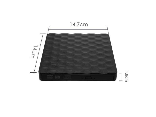 in Walmeck USB 3.0 Portable Ultra Thin External Optical Drive CD Tray ODD Caddy Burner Reader 5Gbps Date Transfer for Notebook Mobile PC PC Desktop Apple Notebook Apple All One