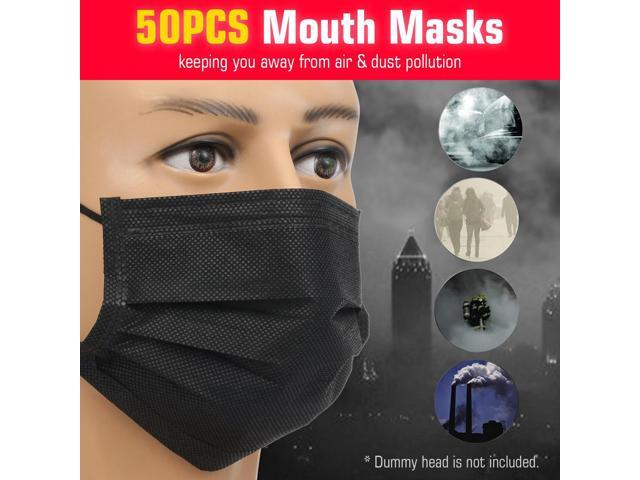 50 pcs disposable earloop face mask filters
