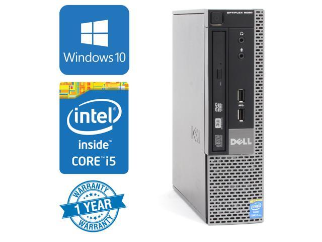 "dell 9020 ""usff"" desktop ultra small form factor intel quad core i5 refurbished"