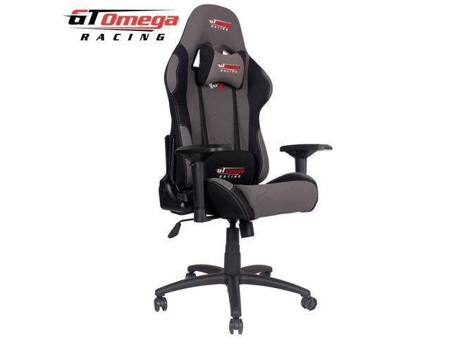 GT Omega PRO Racing Office Gaming Chair Grey and Black Fabric - Newegg.com