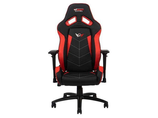 Sensational Gt Omega Elite Racing Office Gaming Chair Black And Red Leather Uwap Interior Chair Design Uwaporg