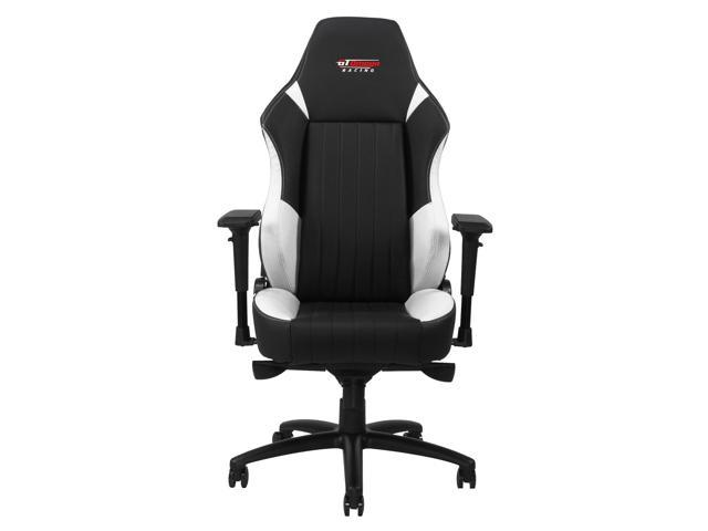Astonishing Gt Omega Evo Xl Racing Gaming Office Chair Black And White Leather Uwap Interior Chair Design Uwaporg