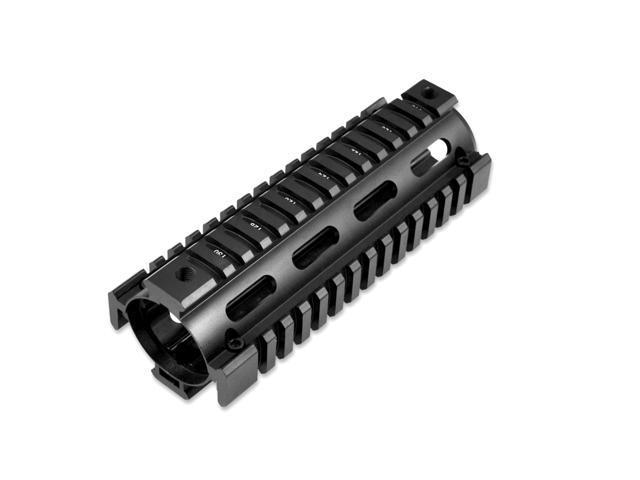 Sniper AR-15 Carbine Length 6 75 inch Drop-In 2 piece Aluminum 6061-T6  Handguard Quad Rail Forend for AR15  223/5 56 - Newegg com