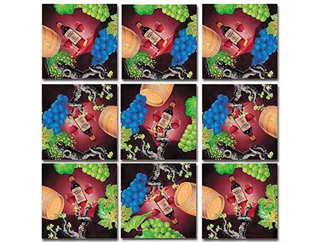 B Dazzle Vin Vino Wein Wine Scramble Squares 9 Piece Puzzle - Newegg com