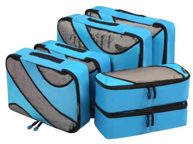 b0e4a54400f6 Bagail 6 Set Packing Cubes,3 Various Sizes Travel Luggage Packing ...