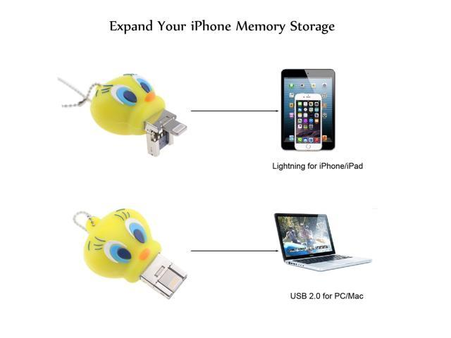 Tipmant Cartoon USB Flash Drive for iPhone iPad 16GB PC Animal Duck iOS Flash Memory Stick