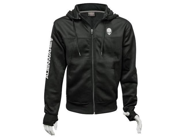 Alienware Poly-Tech Zip Hoodie - Black - Size L - Newegg com