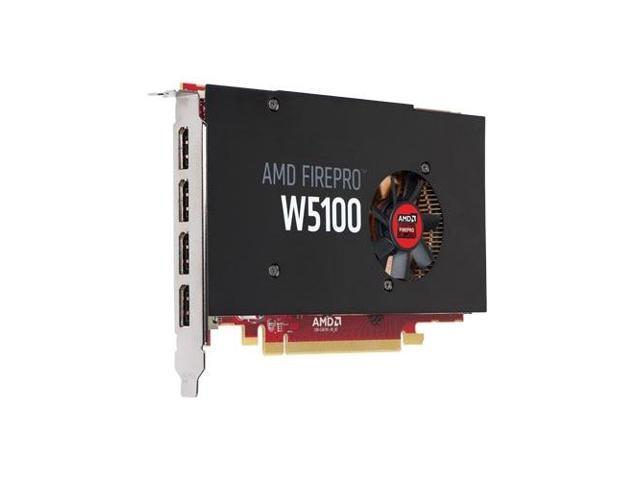 AMD FirePro W5100 - Graphics card - FirePro W5100 - 4 GB - 4 x DisplayPort  - for Precision Tower 1700, 5810, 7810, 7910 - Newegg com