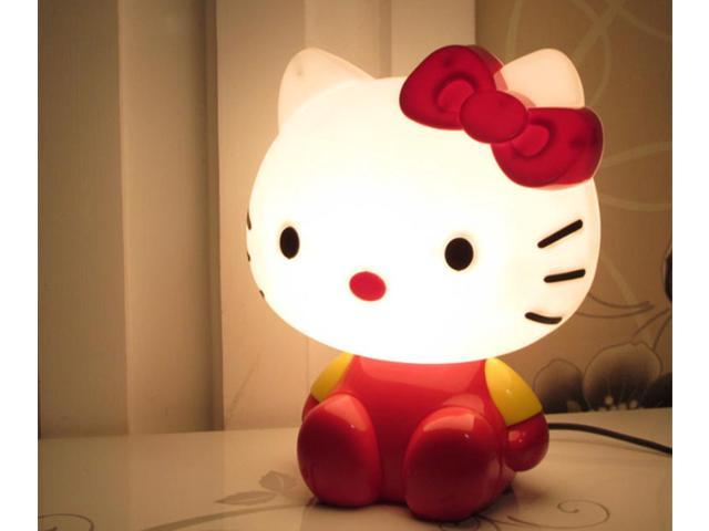 ESTONE Romantic Hello Kitty Night Lights Cartoon Super Cute Lamps Led  Luminaria Table Lamp - Newegg com