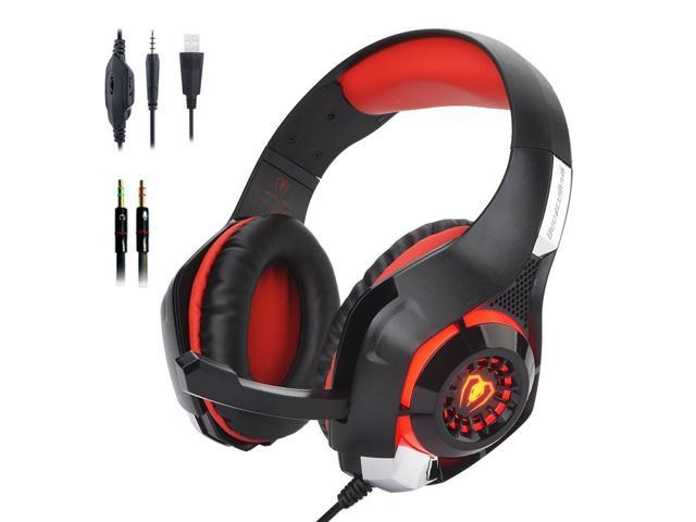 ESTONE Beexcellent Gaming Headset with Mic for PS4, PC, Xbox One, Over Ear  Game Headphones, Surround Sound, Noise Reduction, Easy Volume Control,3 5MM