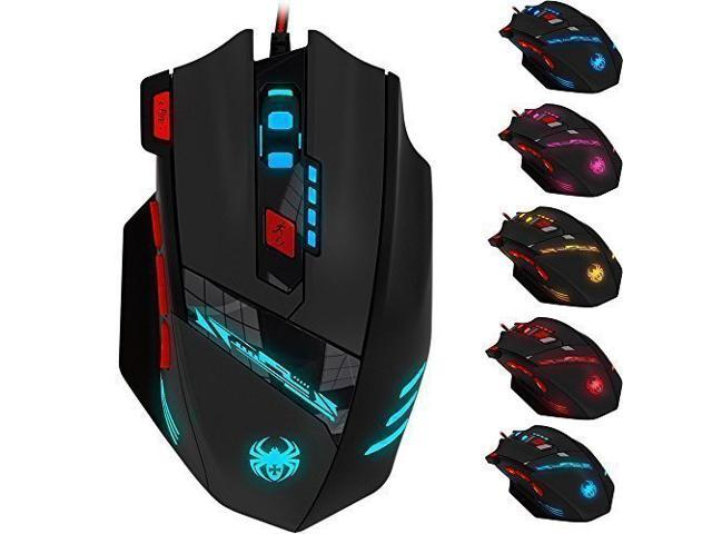 KEY IDEA Gaming Mouse Wired Optical Mouse 4000 DPI and 1000 Hz Polling Rate LED RGB Lights and 7 Buttons for Laptop,Mac Black-10