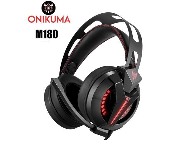 81164186122 ONIKUMA M180 Gaming Headset Over Ear Stereo Bass Gaming Headphone with  Noise Isolation Microphone for PS4