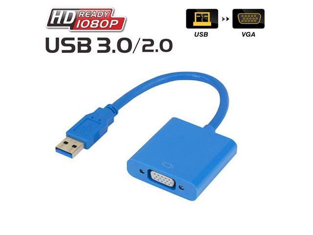 ESTONE High Speed USB 3 0 to VGA Adapter Converter, Multi-Monitor Adapter  Male to Female Converter,Support Full HD 1080p-Windows 10/8 1/8/7 PC Laptop