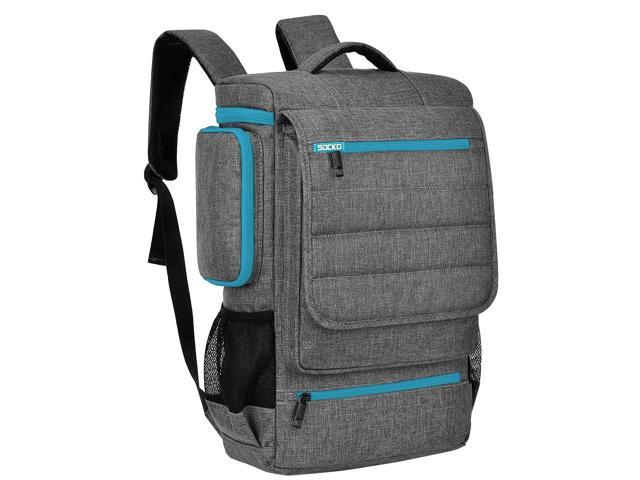Socko 18 Inches Large Laptop Backpack For Men Travel Business Computer Bag Anti Theft Water Resistant College School Bookbag Fits Up To 4 Inch