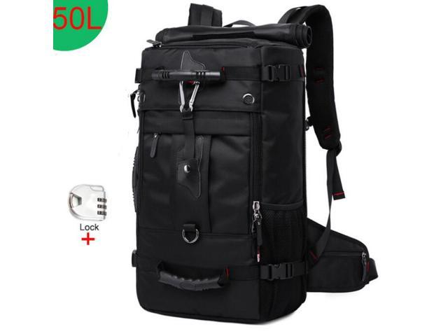 Travel 50L Waterproof Multifunction 17.3 Laptop Bookbag Outdoor Luggage Bag