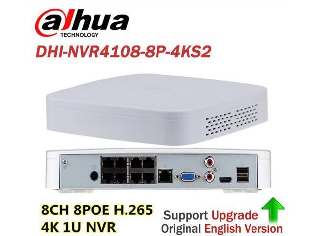 Dahua NVR4108-8P-4KS2 8ch 4K 8MP P2P 8 Port H 265 NVR Recorder for IP POE  Camera - Newegg ca