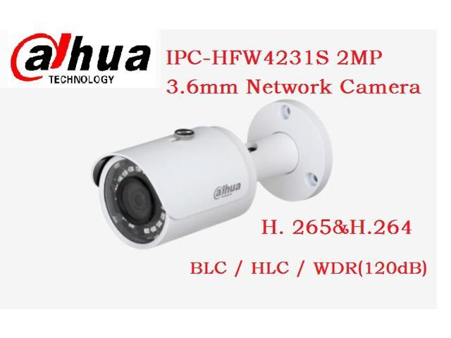 dahua IPC-HFW4231S 2MP 3 6mm H  265&H 264 Smart Detection WDR IR Mini  Bullet Network Camera IP67 - Newegg ca
