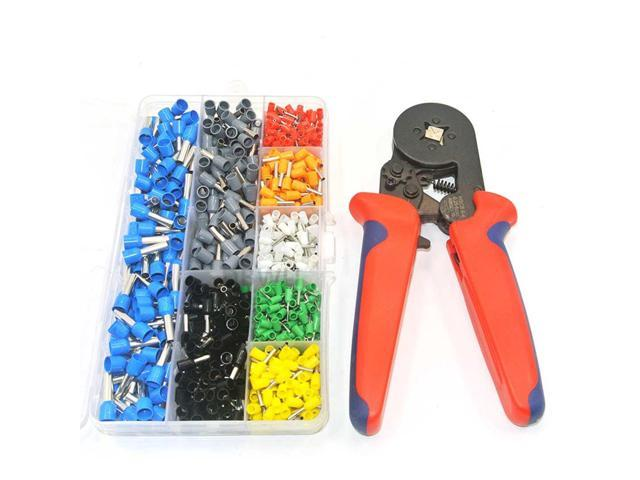 800 Wire Crimping Tool Kit Awg 10-22 Terminal Connector Sleeves Contractors Wiring Sleeves on
