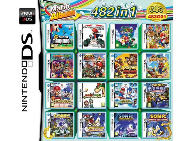 482 Games in 1 NDS Game Pack Card Mario Album Cartridge for Nintendo DS 2DS  3DS New3DS XL - Newegg ca