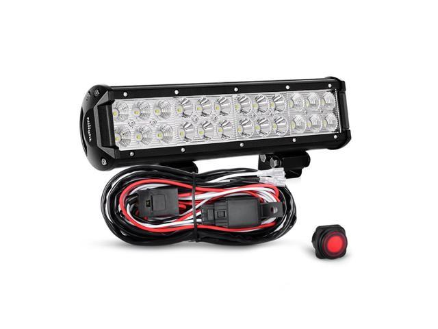 Nilight Led Light Bar 12 Inch 72W Spot Flood Combo With Off Road Wiring on