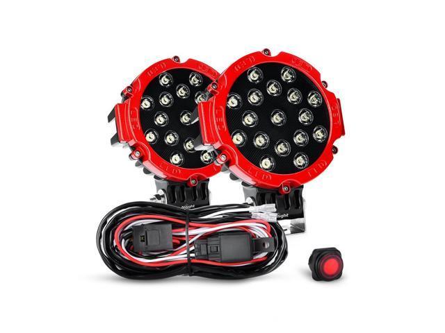 "2 years Warranty Nilight 2PCS 51w 7/"" Red Spot Round Led Work Light Bar"