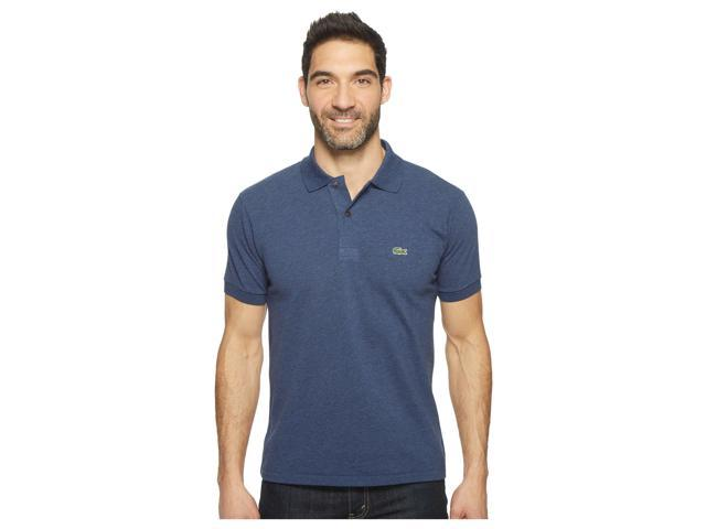 f9976ae7a Lacoste Men's Short Sleeve Chine Pique Polo Philippines Blue Chine Size  3-Extra Large