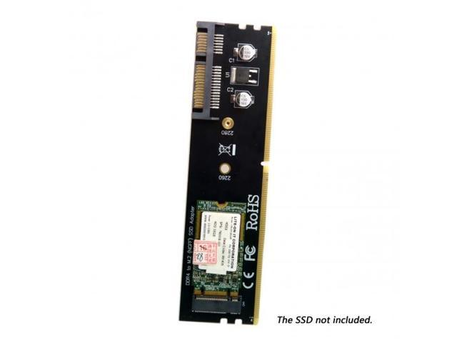 Xiwai B+M Key M.2 NGFF SATA SSD to 2.5 inch SATA Adapter Card Adapter White Case