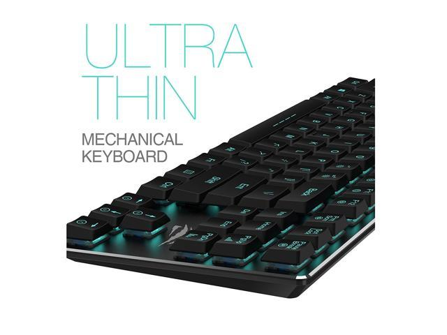 Mechanical Keyboard HAVIT Backlit Wired Gaming Keyboard Extra-Thin on