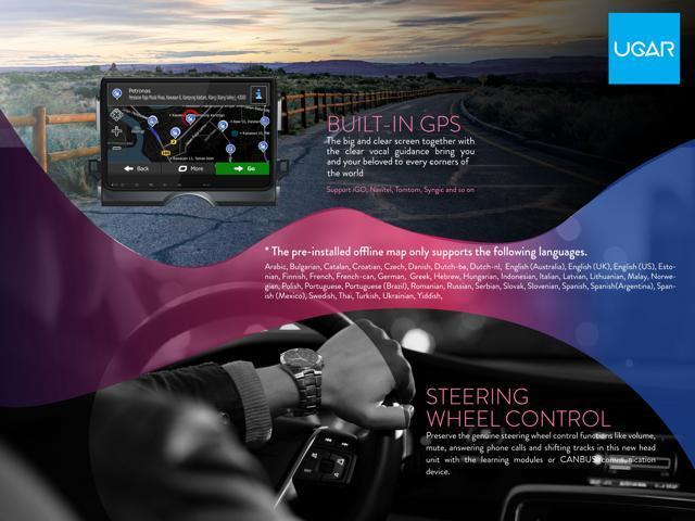 UGAR for Toyota RAV4 Stereo Android 6 0 Car Radio 2 Double Din GPS  Navigation 10 1