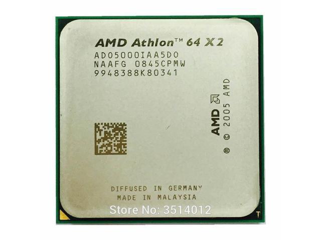 Amd Athlon 64 X2 5000 5000 2 6 Ghz Dual Core Cpu Processor Ado5000iaa5do Socket Am2 Newegg Com