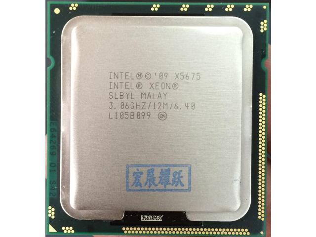Lntel X5675 X5675 CPU Processor Six-Core 3.06Ghz L3=12M//95W Socket LGA 1366 Desktop CPU
