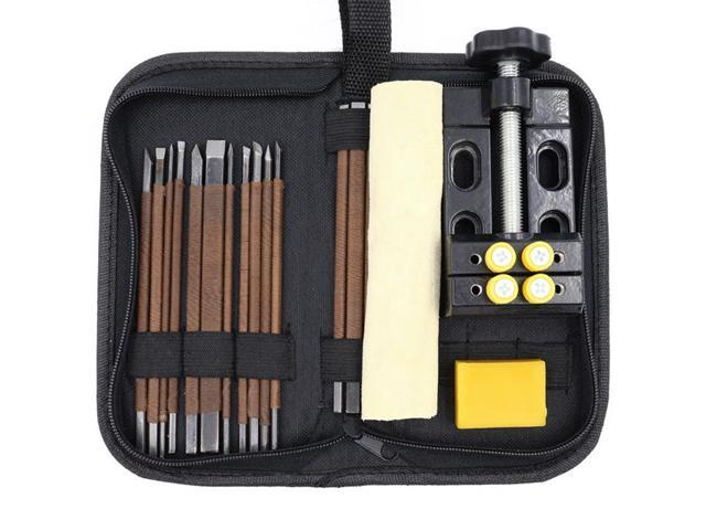 Stone Carving Tool Kits 18pcs Manganese Steel Hand Engraving Knife Carving  Chisels Vise Clamp Kits - Newegg com