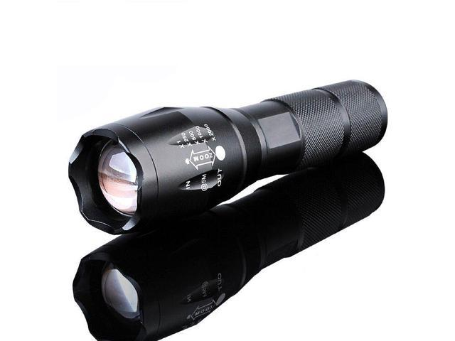 5000lm LED Zoom Flashlight G700 X800 Tactical Battery Charger Shadowhawk Bright