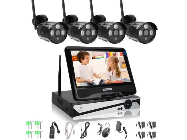 HODELY 10 1 LCD Monitor 4CH CCTV NVR Kit WIFI Wireless IP