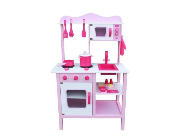 Wood Kitchen Toy Kids Cooking Pretend Play Set Toddler Wooden Playset -  Newegg.com