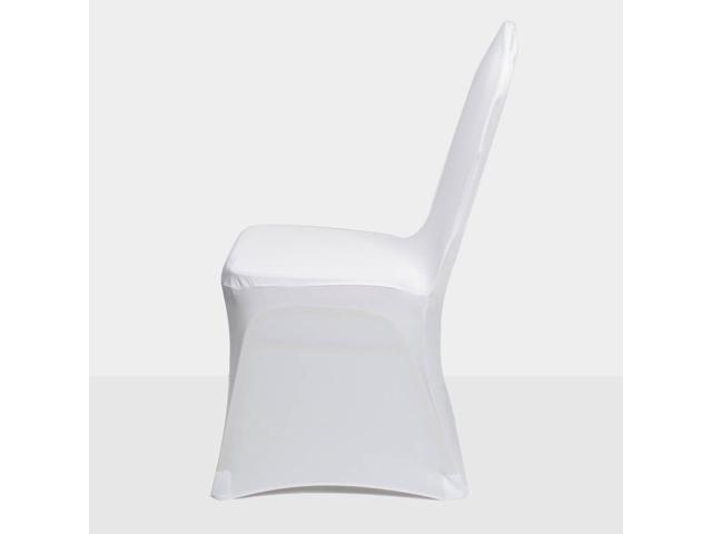 Prime 100Pcs Spandex Stretch Chair Covers White For Wedding Party Banquet Decoration Newegg Com Pabps2019 Chair Design Images Pabps2019Com