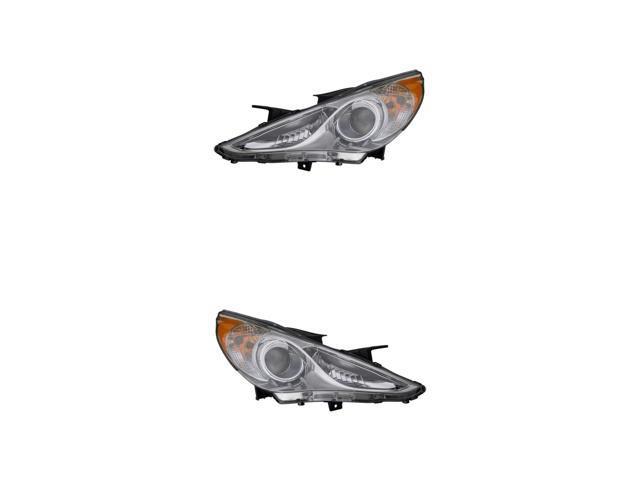 Fits Sonata 11-14 Passenger Side Headlight Lamp Assembly