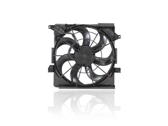 Dual Radiator and Condenser Fan Assembly Cooling Direct For//Fit HY3115136 12-14 Hyundai Accent Sedan Hatchback 12-16 Veloster w//Turbo 12-14 Kia Rio5//Rio Sedan AT