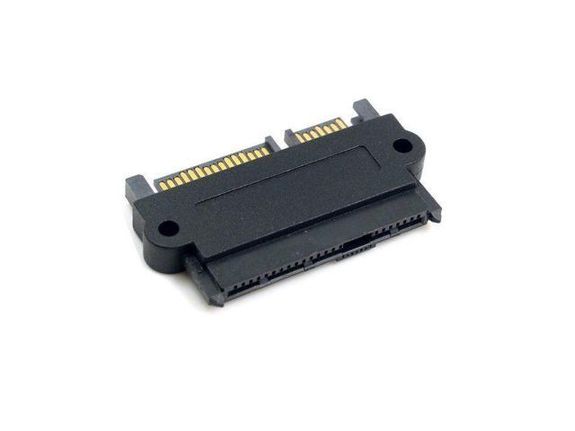 SFF-8482 SAS 22 Pin to 7+15 Pin SATA Male HDD Hard Drive Adapter Wide