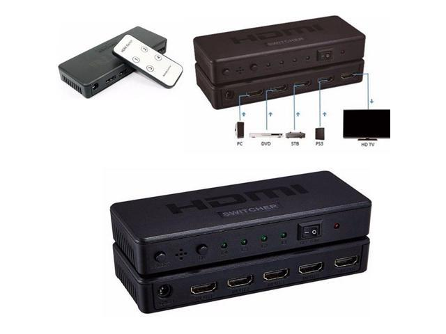 4 in 1 out HDMI Switch/Splitter 4 to 1 Splitter with Remote Control Support  3D - Newegg ca