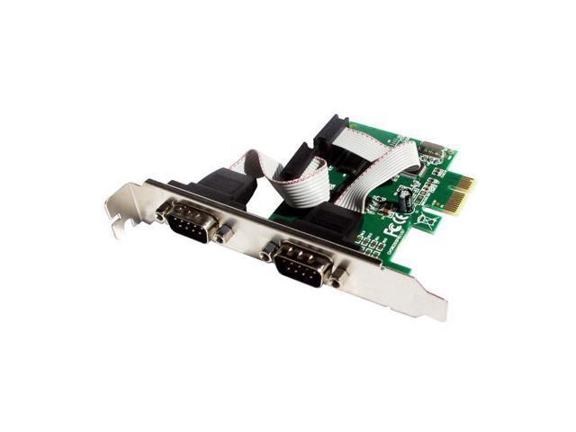 2 Port RS232 Serial Port COM to PCI-E Card Adapter Converter
