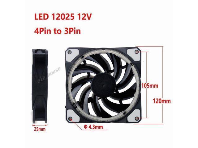 NEW 120mm 12cm Blue LED Light 12V 42CFM PC Computer Clear Case CPU Cooling fan