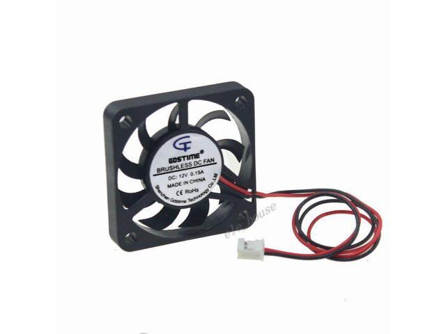 2PCS Computer CPU Cooler Cooling Fan 3 Pin 4cm PC 4cm 40x40x10mm DC 12V