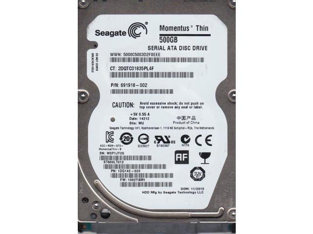 ST500LT012 FW 0001SDM1 PN 9WS142-188 Seagate 500GB SATA 2.5 Hard Dri WU W0V